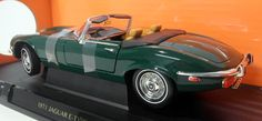 Lucky 1/18 Scale - Jaguar E-Type Roadster Dark Racing Green - Diecast model car #lucky #Jaguar