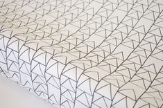 Changing Pad Cover  Black Triangle Stack  ModFox by ModFox on Etsy