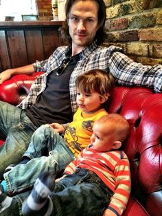jared with his 2 boys  sweet