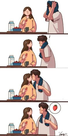 25 Ideas Quotes Funny Couple Life For 2019 Cute Couple Comics, Couples Comics, Couple Cartoon, Cute Comics, Funny Couples, Anime Couples, Art Love Couple, Cute Couple Drawings, Humor Dental