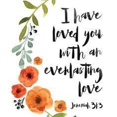 Jeremiah 31:3 #WordOfGod #Love #Bible