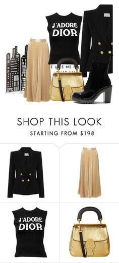 """""""Go to police"""" by fashionista-763 on Polyvore featuring мода, Pierre Balmain, Alice + Olivia, Christian Dior, Burberry и Dr. Martens"""