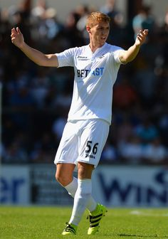 Jay Fulton of Swansea City during the Pre-Season Friendly match between Bristol Rovers and Swansea City at Memorial Stadium on July 23, 2016 in Bristol, England.