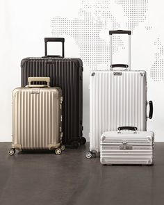 Rimowa North America Topas Stealth Luggage, Locks & Handles on Left Side Cute Luggage, Carry On Luggage, Luggage Sets, Travel Luggage, Travel Bags, Airport Luggage, Luxury Luggage, Rimowa Luggage, Cute Suitcases