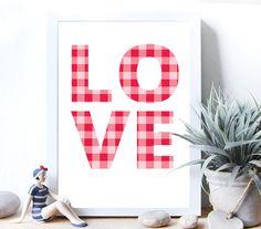 Printable wall decorLove art print Wall Art Printable by MokileArt