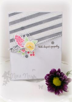 A Creative Touch: WPlus9 Birthday Challenge Week 3: Trend Watch. Beautiful layout and colours using Fresh Cut Florals.
