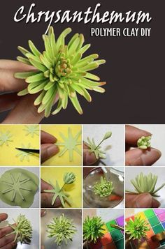 DIY Polymer Clay Chrysantemum