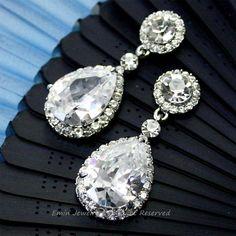 Bridal Earrings, Vintage Style Bridal Earrings