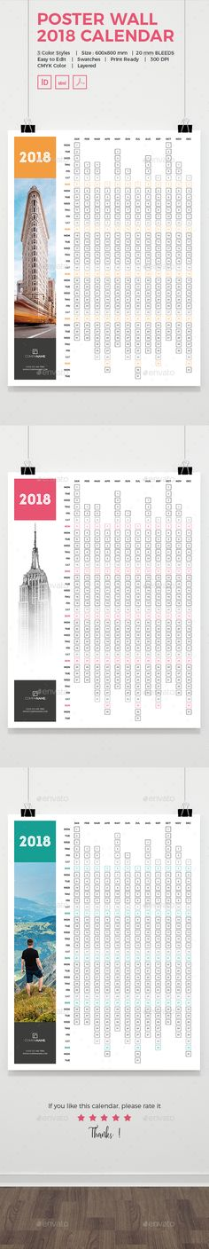 Weekly Calendar InDesign Template by InDesign Templates on - Indesign Calendar Template