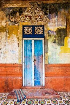 tiled entry.