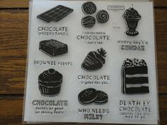 Close to My Heart A Chocoloate Affair Stamp Set Brownie Points, Best Chocolate, Close To My Heart, Affair, Stamp, Ebay, Stamps