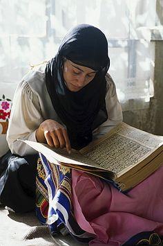 Scripts from the Koran . Kabul, Afghanistan