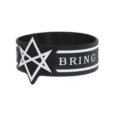 Bring Me The Horizon Die-Cut Unicursal Hexagram Rubber Bracelet | Hot... ($7.50) ❤ liked on Polyvore featuring jewelry, bracelets, rubber bracelet, band, rubber jewelry and rubber bangles