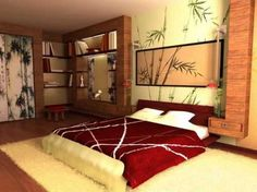 Oriental Theme Bedroom Decorating Ideas   Asian Themed Bedroom Decorating  Ideas   Asian Decor   Oriental Decor   Japanese Inspired Bedrooms   Chinese  Theme ...