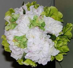 White Peonies with green Anemonies