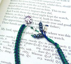 Handmade bookmark with silver plated gift box charm