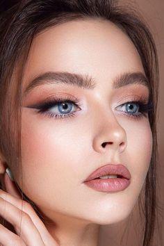 Cute Eye Makeup, Soft Eye Makeup, Classy Makeup, Wedding Eye Makeup, Edgy Makeup, Makeup Eye Looks, Eye Makeup Art, Pretty Makeup, Skin Makeup