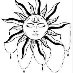 Mandala Tattoo Design, Mandala Sonne Tattoo, Tattoo Sonne, Sun Tattoo Designs, Sun Designs, Henna Designs, Symbol Tattoos, Body Art Tattoos, Sleeve Tattoos