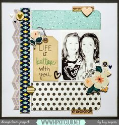 Happy Sunday Designer @rogerskk created this awesome LO with our #september2015 kits featuring @americancrafts @amytangerine @dearlizzy @cratepaper @ellesstudio #hipkitclub #hipkits #scrapbook #scrapbooking #scrapbookkits #amytangerine #dearlizzy #americancrafts #cratepaper #ellesstudio