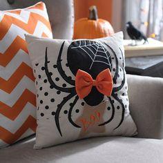 Halloween Spider Pillow | Kirklands                                                                                                                                                     More