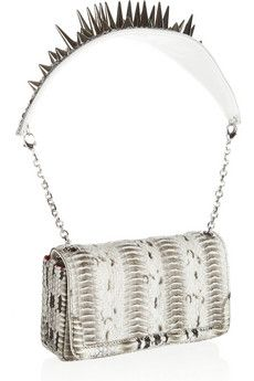 Artemis spiked watersnake shoulder bag by Christian Louboutin