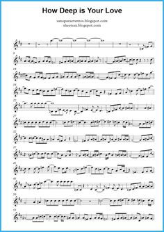 How Deep Is Your Love by Bee Gees music score and playalong (Sheet music and…
