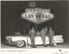 Phil Palumbo Quintet in a 1959 Cadillac convertible 1959 Cadillac, Las Vegas Nevada, Good Old, Convertible, Mid Century, Neon Signs, Trucks, Cars, History