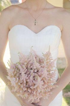 astilbe bouquet, a simple bouquet in a light color balances the mix of patterns