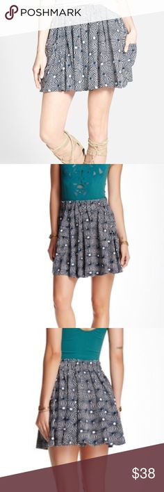 Free People skirt New with tags - Free People so much fun skirt in navy/white combo Free People Skirts Mini