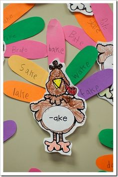 Phonics activity for Thanksgiving. - - Re-pinned by @PediaStaff – Please Visit http://ht.ly/63sNt for all our pediatric therapy pins