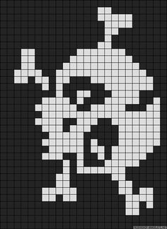 this is a good grid pattern for a granny square blanket or rug. My husband would… Crochet Skull Patterns, Bead Loom Patterns, Beading Patterns, Cross Stitch Patterns, Pixel Crochet, Crochet Chart, Beaded Cross Stitch, Cross Stitch Embroidery, Pixel Drawing