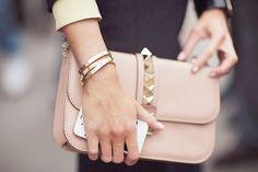 rose gold stud clutch