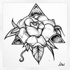 Roses tattoo design low ... Laureline