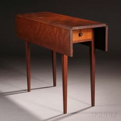 Shaker Cherry and Butternut Drop-leaf Table   Sale sold Number 2731M, Lot Number 80   Skinner Auctioneers  Sold $24,600