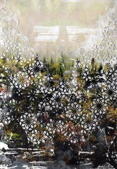 Elise Wehle's collages are sensual landscapes that are rooted in the earth and the seasons and made using paper cut patterns, weaving and embroidery