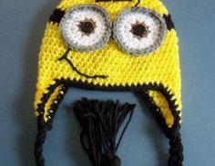 Crochet Minion Hat, Crochet Despica..
