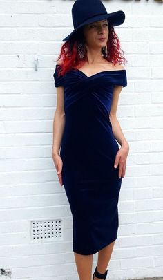 NWT ZARA Velvet Dress in Blue Midnight Shift Tube Size M Ref.0387/162 #ZARA #Shift #Formal