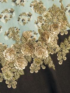 Sabyasachi by Sabyasachi - Printed epaulets shirt with zardosi