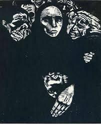 Käthe Kollwitz (Germany The people, woodcut. Image: 14 x 11 in. Robert Gore Rifkind Ctr for German Expressionist Studies @ LACMA Linocut Prints, Art Prints, Kathe Kollwitz, George Grosz, Illustrator, Harlem Renaissance, Art Graphique, Wood Engraving, Caricatures