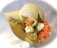 Kentucky Derby Hat Floral Spring Hat by Marcellefinery on Etsy, $48.00