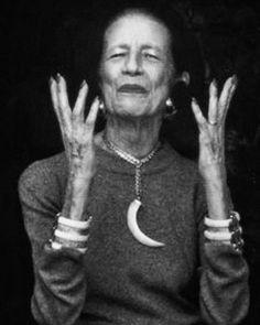 She was born in 1903 in Paris and died in New York in Diana Vreeland. Diana Vreeland, Lauren Bacall, Richard Avedon, Twiggy, Manolo Blahnik, Friday Film, Yves Saint Laurent, Harper's Bazaar, Older Women