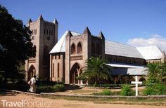 St Peters Cathedral of the Anglican Church in Likoma District. In Malawi South East Africa built in the mid century St Peters Cathedral, Anglican Church, Place Of Worship, East Africa, Tanzania, Statues, 19th Century, Mansions, Petra