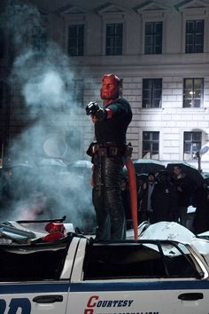 HELLBOY 2: The Golden Army Hellboy 2004, Hellboy Movie, Super Hero Outfits, Super Hero Costumes, Hot Bad Boy, Ron Perlman, Joker Dc, Watch Tv Shows, Fantasy Movies