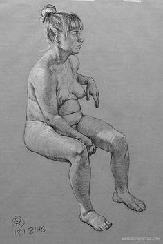 Figure Drawing 18.1.2016, kuvittaja / illustrator Ossi Hiekkala
