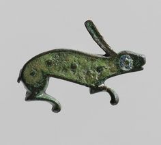 Brooch in the Form of a Rabbit. Roman (probably Britain or Gaul), 100-300. (via The Metropolitan Museum of Art)