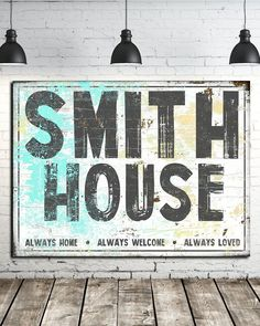 Family Established Name Sign - Personalized Sign Wall Art Canvas, Home Accessories, Looking for a modern farmhouse family name sign? Our family name canvas sign will be sure to add that fixer upper rustic detail to your home.