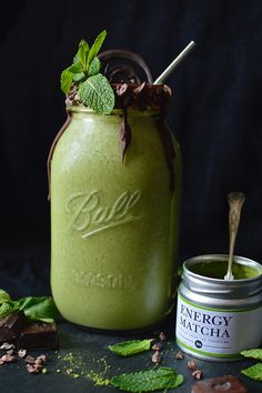 Dydric � rawberry-fields: Matcha Mint Smoothie