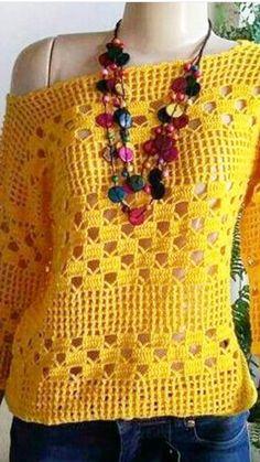 Fabulous Crochet a Little Black Crochet Dress Ideas. Georgeous Crochet a Little Black Crochet Dress Ideas. T-shirt Au Crochet, Cardigan Au Crochet, Beau Crochet, Pull Crochet, Crochet Vest Pattern, Mode Crochet, Black Crochet Dress, Crochet Shirt, Crochet Woman