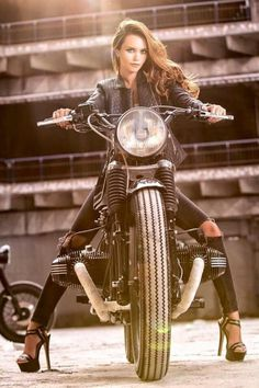 Babes on Motorcycles By Razin Cane   #caferacer  #racer_girl