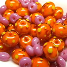 'Fruit Salad' ~ Lampwork glass beads by Laura Sparling